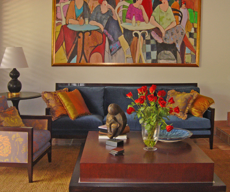 Living Room on Contemporary Florida Living Room Design