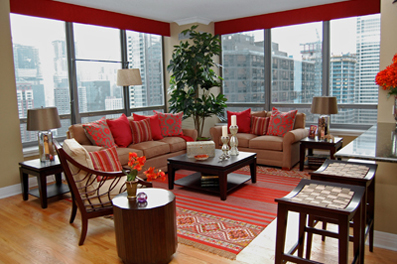Living Room on Modern Living Room   Lakeshore Condo